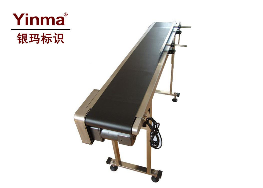Flat Belt Conveyor / Belt Conveyor Machine Adjustable Transfer Speed With Adding Baffle